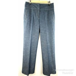 Daniel Cremieux High Waist Wide Leg Dress Jeans 8